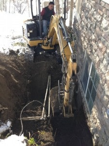 Excavating Around Sprinkler Lines